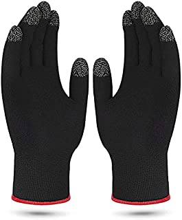 Game Gloves for Anti-Sweat Breathable, Touch Finger for Highly Sensitive Nano-Silver Fiber Material, Support Almost All Mo...