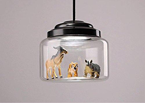 QMMCK Lampe Pendante En Dinosaure Lampe En Verre Led Light Source 220V Chambre Pour Enfants Éclairage De Décoration