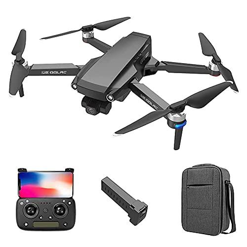 Drone GPS con cámara Dual HD de 8K para Adultos, 5G WiFi 3 Ejes Gimbal Tiempo de Vuelo Largo Fotografía aérea Motor sin escobillas Quadcopter Profesional Plegable, para Adultos y principiant