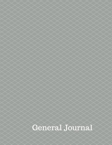 General Journal: Entry Form  Notebook With Columns For Date, Description, Reference, Credit, And Debit. Paper Book Pad with  100 Record Pages 8.5 In By 11 In