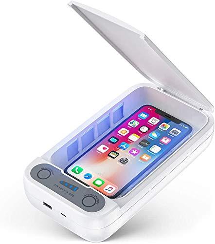 Kceery UV Handy Sterilisator - Handy Desinfektionsmittel Portable Handy Reiniger Box mit Aromatherapie Funktion Smartphone Desinfektion für iPhone Android Handys Zahnbürste Schmuck Uhren