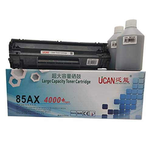8.000 pagina's UCAN 85a Toner Cartridge Set Compatibel met HP CE285a CB435a Laserjet Pro P1102 P1109 M1212 P1005 P1006 Canon CRG 725 712 LBP6000 LBP6020 MF3010(High Yield, No Waste Toner, Refillable)