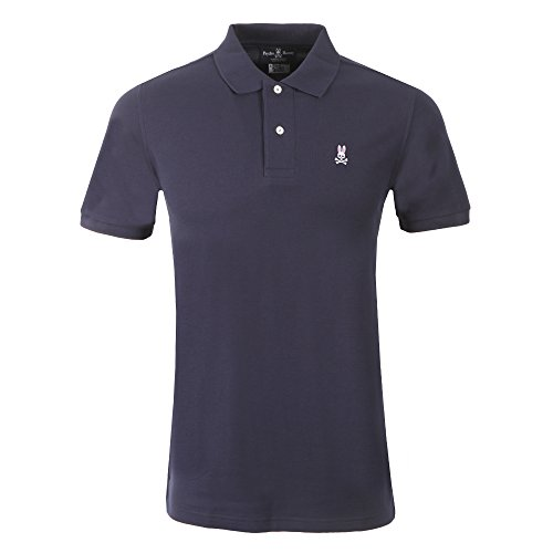 Photo of Psycho Bunny Short Sleeve Polo Shirt LARGE Navy