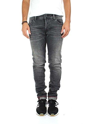 Diesel Sleenker L.32 Jeans Skinny, Nero (02-Black/Denim 084JU), 32W x 32L Uomo