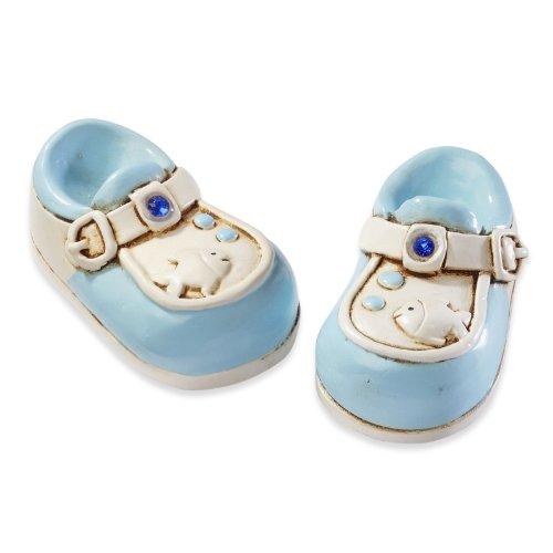 Babyschuhe - Blau * Baby Geburt Taufe * Tortendekoration * Tortenfigur * Tischdekoration