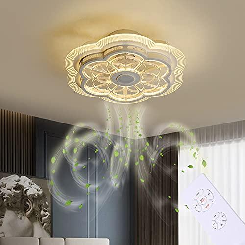 GJXJY 19.7in Ventilador de Techo con Luz y Mando a Distancia Silencioso Fan LED Moderno Luz de Techo Regulable Ventilador de Sincronización Lámpara Colgante per Dormitorio