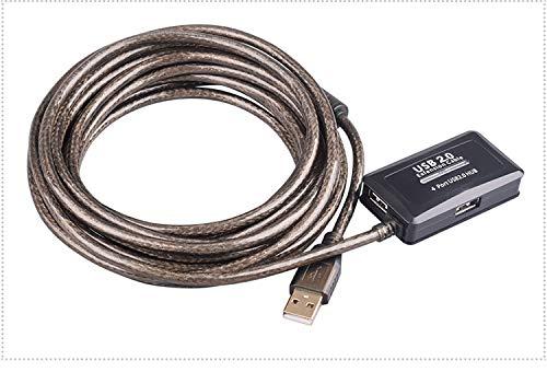 Baolongking 10m USB 2.0 Extensión cable de 4 puertos con puerto de...