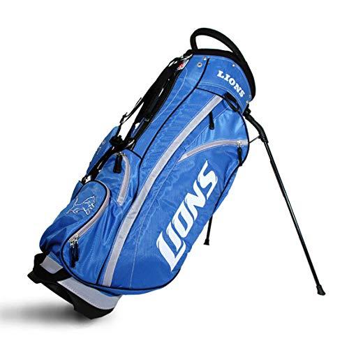 Team Golf NFL Detroit Lions Fairway Golf Stand Bag, Lightweight, 14-way Top, Spring Action Stand, Insulated Cooler Pocket, Padded Strap, Umbrella Holder & Removable Rain Hood