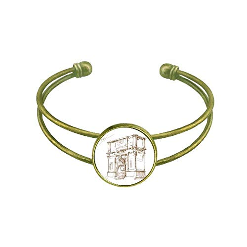 DIYthinker Arch of Constantine Rome Constantine Bracelet Bangle Retro Open Cuff Jewelry