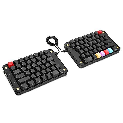 Koolertron Programmable Split Mechanical Keyboard with OEM Gateron Red Switch, All 89 Keys Programmable Ergonomic Keypad, 8 Macro Keys - [SMKD62] (OEM Red Switch (Office))