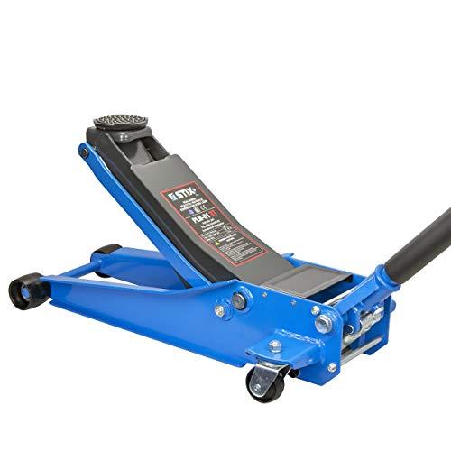 Stix Cric hydraulique Rouleur 3 Tonnes 75 mm – 505 mm avec Double Piston