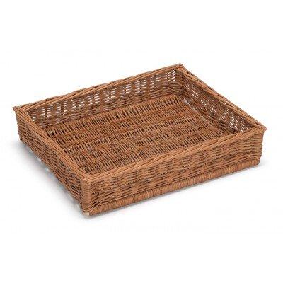 Prestige Wicker Display Basket 41.5Cm x 31Cm H8Cm, Willow, Natural, 40 x 30 x 8 cm