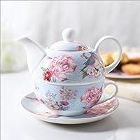 Nature Park 紅茶 ティーポット コーヒーカップ ティーセット 陶器 ティーポットとティーカップがセットになったティーフォーワン 480ml NP-THT003
