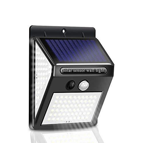 センサーライト 屋外 ソーラーライト 3つ点灯モード 140LED 人感センサーライト 三面発光 300°広い照射範囲防犯ライト IP65防水 壁掛け式屋外照明庭灯