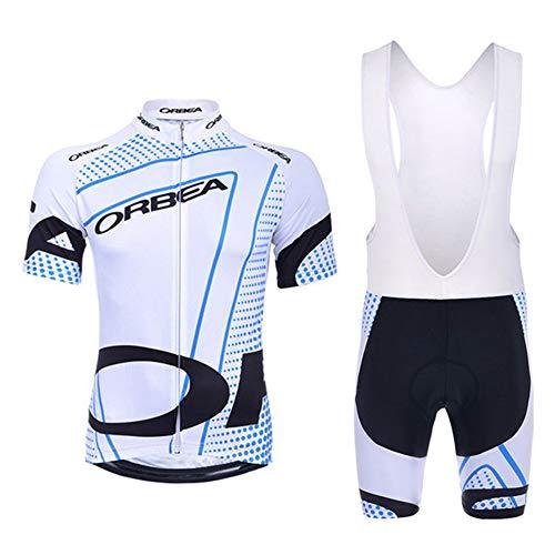 Abbigliamento sportivo per la squadra di ciclismo, set composto da maglietta in jersey e pantaloni corti, da uomo, uomo, 34, S