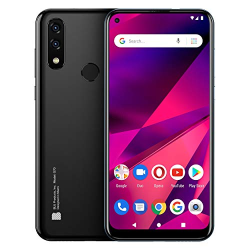 BLU G70 Smartphone (Schwarz) - 6,4 Zoll Bildschirm, 32GB + 2GB RAM, kein Simlock, 4000mAH Akku, Fingerprint (Schwarz)