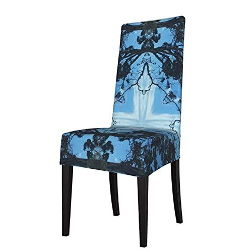 Fundas para sillas Blue Cross Nature Pattern Strech Fundas para sillas Fundas Lavables para sillas Fundas para sillas elásticas para sillas
