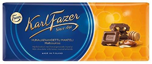 Karl Fazer Honey Roasted Almonds Milk Chocolate - Klassisch Finnisch Milchschokoladen Schokoladentafel 200g
