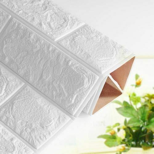 BLOUR 15pcs Wandpaneel Backstein 3D Schaum Aufkleber Home DIY Selbstklebende Raumdekor Neue Tapete