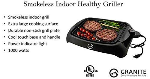 Granite Premium Indoor Smokeless Healthy BBQ Griller