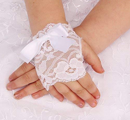 White gloves for flower girl Lace Baby Toddler