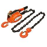 Strutstore Chain Lever Block Hoist Come Along 2-Hook Ratchet Lift 3 Ton 10Ft Chain