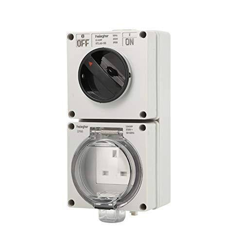 Zócalo multifunción impermeable y antiséptico, IP66 con interruptor, inteligencia, duradero, adecuado para el hogar, al aire libre, interior, ambiente húmedo, etc.