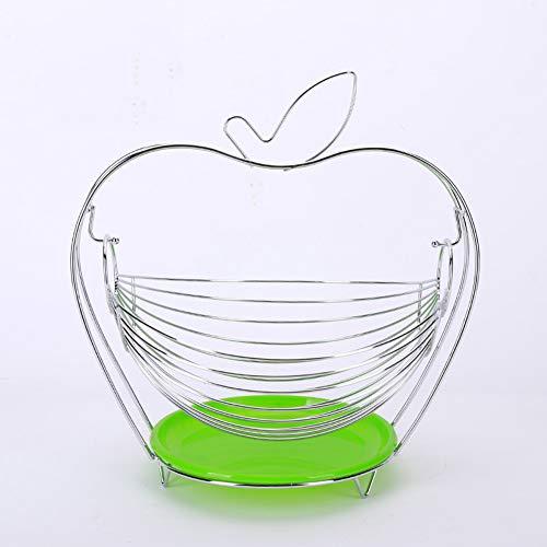 Swing Hangmat fruitmand met handvat, ronde zilveren opbergmanden, huishoudelijke producten drainage plantaardige mand - Chrome,c,28.8 * 22.5 * 32cm