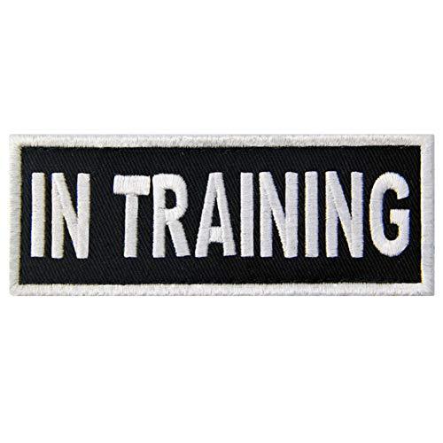 Service Dog in Training Vests/Harnesses Patch Embroidered Badge Fastener Hook & Loop Emblem