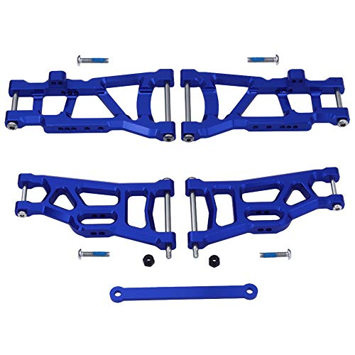 Hobbypark Aluminum Front & Rear Suspension A-Arms Set,Tie Bar for 1/10 Traxxas Slash 2WD RC Car Upgrade Parts Hop Ups, Replacement of 2555 3631 2532