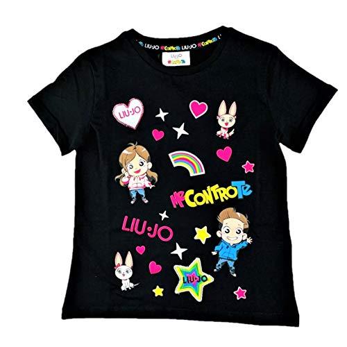 Liu Jo 4B1305TX190 T-Shirt Bambina Nero 8A
