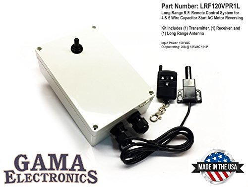 GAMA Electronics Boat Lift RF Remote Control System, 120VAC Single Phase, Capacitor Start (4-Wire) AC Motor Reversing