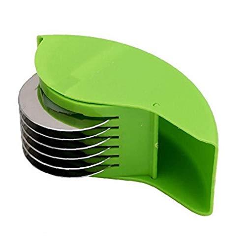 AMOYER 1pc Manual de máquinas de Cortar Hierba Creativo Enrollable Roll Rodillos Trituradora Multi Vegetales Herramientas rallado Chopper Fideos máquina de Cortar de Cocina (Color al Azar)
