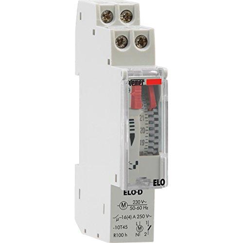 Vemer VP877500 Interruttore Orario Elettromeccanico Elo-D, Grigio Chiaro
