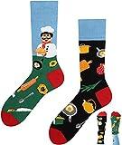 TODO Colours Lustige Socken mit Motiv - mehrfarbige, bunte, Verrückte für Herren & Damen (35-38, Beste Koch)