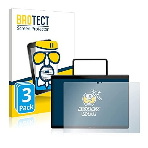 BROTECT Protector Pantalla Cristal Mate Compatible con Lenovo Yoga Pad Pro Protector Pantalla Anti-Reflejos Vidrio, AirGlass (3 Unidades)