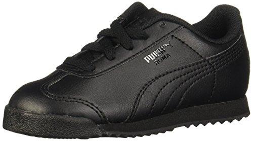 PUMA Roma Basic Kids Sneaker (Toddler/Little Kid/Big Kid) , Black/Black, 9 M US Toddler