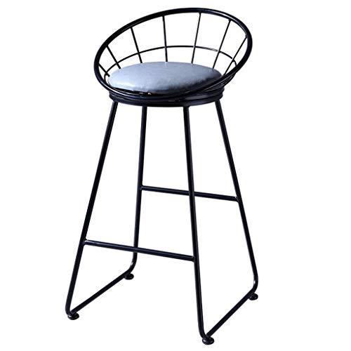 GAXQFEI Silla de la barra de hierro forjado de heces, Comedor Sillas Taburete con respaldo, moderna minimalista Banqueta, taburetes altura Sillas de cocina, muebles de comedor bar - 350 libras de cap