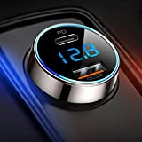 [Pure Copper] USB C Car Charger, SUPERONE 36W 6A Fast USB Car Charger PD&QC 3.0 Dual Port Car Adapter Compatible with iPhone 12, 11 Pro Max, Google Pixel, Samsung and More