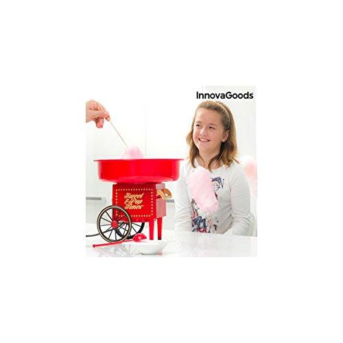 InnovaGoods IG115038 Máquina de algodón de azúcar, 500 W, Rojo