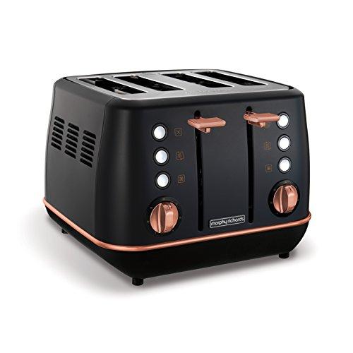 Morphy Richards Evoke 4-Scheiben-Toaster Special Edition 240114 Schwarz-Roségold-Vier-Scheiben-Toaster