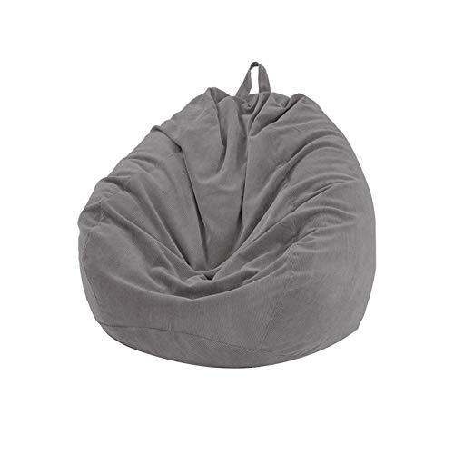 Tongdejing Sitzsack Stühle Couch Sofabezug, Cord Lazy Lounger Sofa Sitzsack Stuhlbezug für Kinder und Erwachsene Tierlager, kein Füllstoff