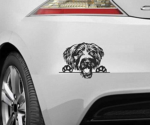 myrockshirt Peeking Dog Spähender Hund Deutsch Drahthaar ca.20cm Aufkleber,Sticker,Decal,Autoaufkleber,UV&Waschanlagenfest,Profi-Qualität,Wandtattoo
