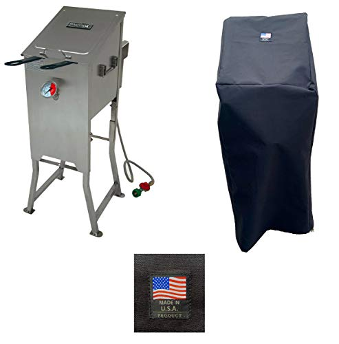 Bayou Classic 700-701 Canvas Cover 5004 Full Length Custom Made for 4 Gallon Deep Fryer Without Side CART Protection from The Elements Made in The USA