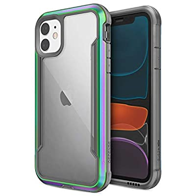 X-Doria Defense Shield, iPhone 11 Case - Military Grade Drop Tested, Anodized Aluminum, TPU, and Polycarbonate Protective Case for Apple iPhone 11, (Iridescent)