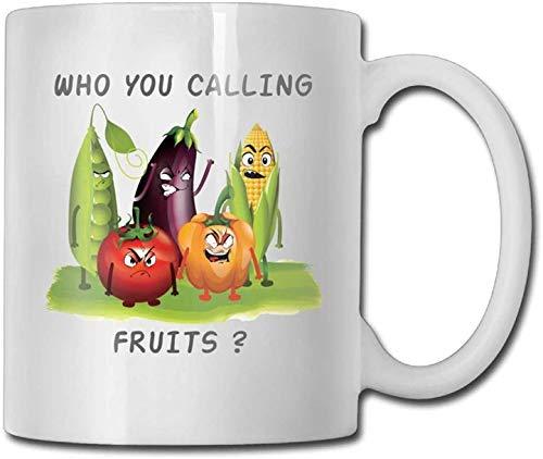 11 oz koffie mok, thee mok, boze groenten die je noemt fruit koffie mokken nieuwigheid geschenk keramische thee kop, perfect cadeau voor familie en vriend