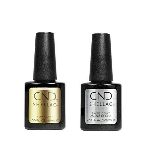 CND Shellac Base Coat 12,5 ml plus Top Coat 15 ml, 1er Pack (1 x 28 ml)