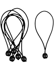 lahomia 6 Stuks Spanrubbers met Bal 15cm Tentrubbers Spanrubber Zeildoek Spanrol Rubber Spanrol Tentaccessoires