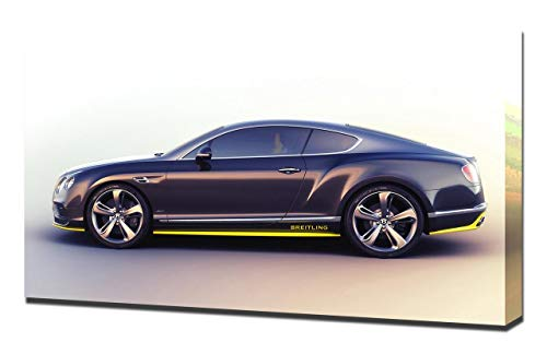 Lienzo Impreso en Lienzo para Pared de la Serie Bentley-Continental-GTSpeed-Breitling Jet-Team-Series-V2-1080