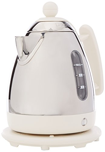 Dualit Lite Kettle   1 L 2 kW Jug Kettle   Polished with Canvas White Trim, High Gloss Finish   Fast Boiling Kettle by Dualit   72203